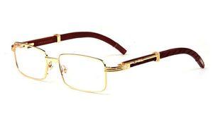 2018 Lunettes De Soleil De Marque Homme Gold Silver Rimless Metal Buffalo Eyeglass Frame Fashion Glasses Frame