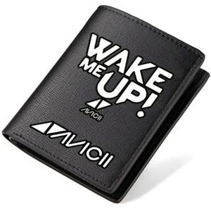Avicii cüzdan Sokak DJ çalar çanta Müzik yıldız kısa uzun para notu Para notecase Deri çanta çanta Kart sahipleri