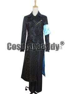 Diabo Pode Chorar DMC 5 Cosplay Vergil Preto Trench Coat Costume H008