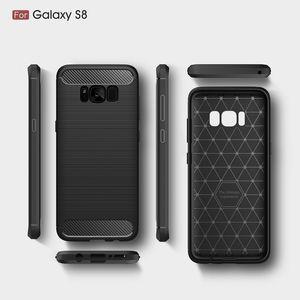Funda de la caja del teléfono para Samsung Galaxy S8 Galaxy S8 Plus Funda de fibra resistente de la fibra de carbono para Galaxy S7edge S7 S6edge S6