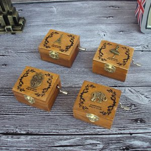 Wholesale retro exquisite music box wooden hand boutique creative students birthday gift decoration goods