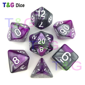 7pc lot dice set High quality Multi-Sided Dice with marble effect d4 d6 d8 d10 d10 d12 d20 DUNGEON and DRAGONS rpg dice game