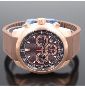 orologio di Lusso Racing coche especial para hombre relojes de edición Movimiento de cuarzo cronógrafo tono Luxusuhr Dos línea de acero correa de los relojes del deporte