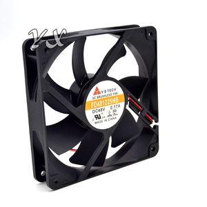 Ücretsiz kargo yüksek kalite Yeni YS FD481225HB 12025 12 CM 48 V 0.17A Çift Topu Sunucu Fan