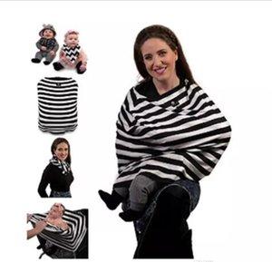 Hemşirelik Buggy Kapak Baskı Şerit Eşarp Arabası Pram Araba Koltuğu Kapağı 4 in 1 Bebek Pamuk Emzirme Gölgelik Battaniye Sepeti Sandalye J412 Kapakları