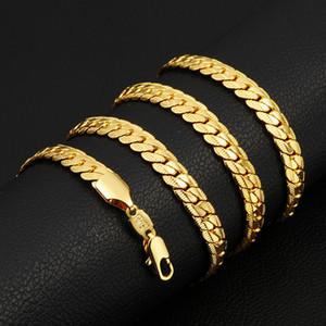 76 centimetri a lunga catena, collana a catena placcata oro 18K per la catena della collana di HIPHOP Uomini Uomini Donne gioielli regalo caldo NL-260