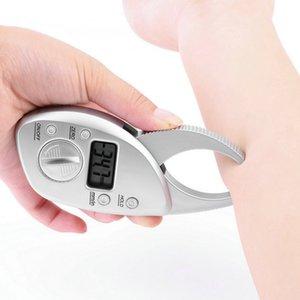 높은 품질 1pc 체지방 캘리퍼스 모니터 전자 디지털 체지방 분석기 + 테이프 측정 팩 피부 근육 테스터 건강 관리