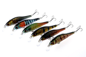 Bright Camouflage Colors Artificial Minnow Lures 9.5cm 11.5g Crank fishing bait 6# high carbon hooks Swimming Depth 0.6-1.8m
