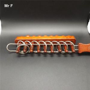 Grandes brinquedo de madeira mental jogos clássico chinês nove anel puzzle metal brinquedos IQ Teaser Test
