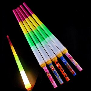 Telescópica LED Glow Stick Flash LED Light Stick Espada fluorescente Luminous Sticks LED Cheer Props Festivales Navidad Carnaval Conciertos Juguetes