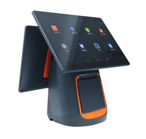 Inteligente cajera colección de una máquina, pantalla del sistema de registro simple y doble pantalla táctil universal de dinero en efectivo, para llevar la impresora