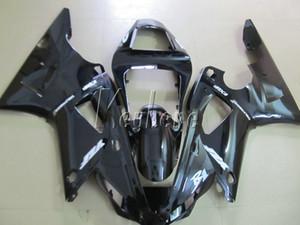 Yamaha YZFR1 2000 2001 için kaporta kiti parlak siyah motosiklet kaportalar set YZF R1 00 01 IT01