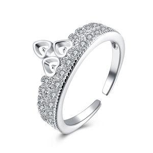Free shipping Wholesale 925 Sterling Silver Plated Fashion ring LKNSPCR218-8