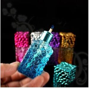 Bunte Alkohollampe der Glasalkohollampe, Hukazubehör, Glasbongs, Glaswasserrohr, rauchend, gelegentliche Lieferung der Farbart