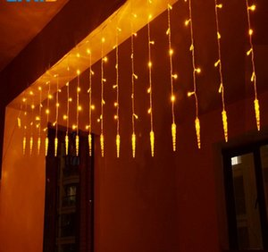 4 * 0.6M Ghiacciolo Home Outdoor Holiday Decorazione natalizia Lights Wedding Xmas String Fairy LED Curtain Ghirlanda Party Light Bulb