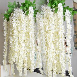 Spedizione gratuita Encrypt artificiale Wisteria Fiore String 30 CM Ortensia rattan per il matrimonio eventi decorazioni per la casa fai da te