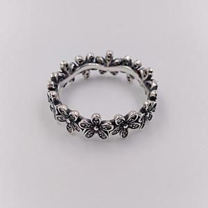 Autentico Argento 925 anelli Dazzling Daisy Band Ring Adatto europea di stile Pandora Jewelry 190934CZ