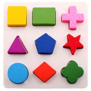 50pcs Holz Geometrisch Puzzles Baby-Kind-Spielzeug Montessori-Spiel spielt für Kinder Educational kognitiven Lernens Geschenk