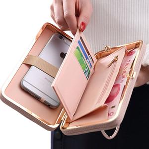 Etui portefeuille femme de luxe en cuir pour iPhone 7 6 6s Plus 5s Samsung Galaxy S8 Plus S7 Edge S6 J5 Xiaomi Note 5 4