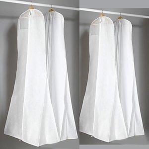 Starker nichtgewebter weißer Staubbeutel für Hochzeitskleid-Abschlussball-Abendkleid sackt 180 * 70 * 25 cm-Kleidungsstück-Abdeckungs-Spielraum-Speicher-Staub-Abdeckungen ein