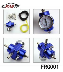 RASTP -OEM Calidad universal que compite con ajustable Regulador de presión de combustible del coche Color Rojo Azul Negro Plata válvula de combustible RS-FRG001