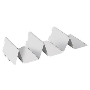 바람 방패 튼튼한 9 격판 덮개 접히는 옥외 야영 요리 조반기 가스 난로 바람막이 유리 스크린 야영 장비