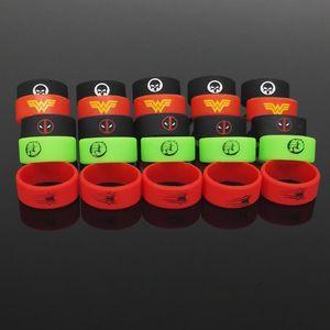 DIY 다채로운 밴드 밴드 실리콘 O 링 22mm * 10mm 실리콘 Vape 반지 E Cig 기계적 Mods에 대 한 Vapor Glass Sub Tanks Non-Slip Silicone Ring