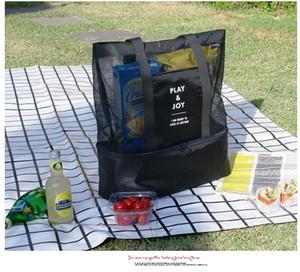 Moda Plaj Soğutucu Çanta açık piknik backage kichenware depolama örgü tote çanta soğutucu çanta plaj öğle yemeği paketi piknik paketi