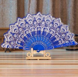 [S009] Chinese colorful fan factory direct wind fan folding fan dance bronzing Ms.