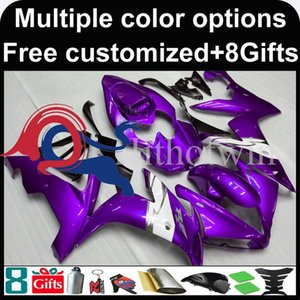 capot de moto ensemble violet pour Yamaha YZFR1 2004-2006 04 05 06 YZFR1 2004 2005 2006 ABS Carénage en plastique