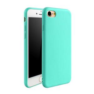 Alta qulity tpu phone case matte capa de cor sólida para iphone7 7 plus 6 6 s 6 plus cor geada doces suave telefone tampa traseira para 5 5s 5se