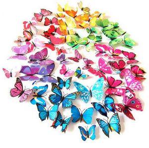 NUEVA etiqueta engomada artificial del imán del refrigerador de la mariposa 3D de la decoración casera Imanes para frigoríficos