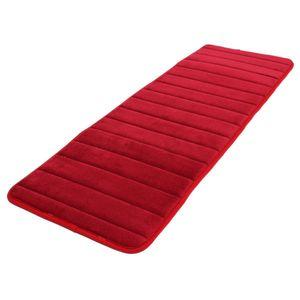 Wholesale- CNIM Hot 120x40cm Assorbente antiscivolo Memory Foam Cucina Camera da letto Porta Tappetino tappeto tappeto Data-rosso
