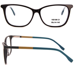 Women and Men's Oval Eyeglasses frames Red Designer full-rim Acetate Optical Clear frame with case in high quality Black Combination 160196
