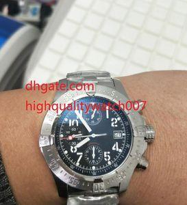 최고 품질 44.5mm 새로운 복수 자 A1338012 오션 레이서 블랙 VK 석영 크로노 그래프 작업 남성 시계 시계 다이얼