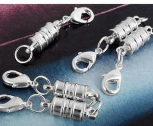 New Silver / Gold Plated Magnetic Magnet Necklace Catenacci Cilindro a forma di catenacci per collana braccialetto gioielli fai da te