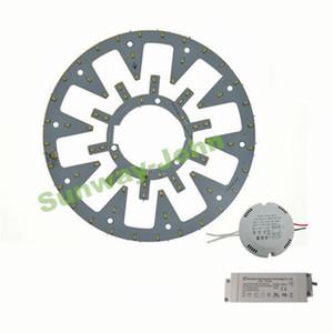 Yeni LED Daire PANELI Işık yuvarlak dairesel Tavan lambası SMD 5730 LED kurulu 10 Watt 12 W 15 W 18 W 21 w 24 w + AC85-265V CE UL sürücü + Manyetik