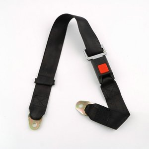 Universal Car Vehicle Seat Belt Extension Extender Strap Safety Two Point Adjustable Belt black