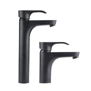 2017 Bacia Cor Preto Moderna torneira pia do banheiro Torneiras níquel escovado único punho único furo Hot Fria Mixer Deck Montado torneiras de bronze