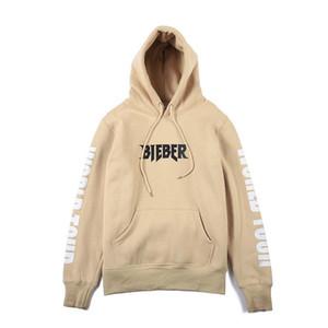 Цель тура толстовки Бибер мужская хаки балахон Flleece повседневные куртки американский и Европейский Осень Зима пальто женщины толстовки бесплатно Shipp