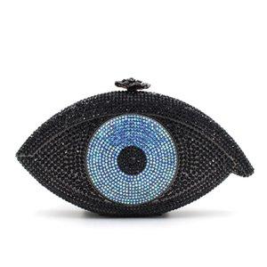 2017 Novo Mais de Forma Moda The Evil Eye noite de cristal Mulheres partido Handbag Clutch Bag Jantar Bolsa das senhoras com corrente