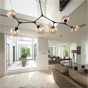 New Chandeliers lighting modern lamp novelty pendant lamp natural tree branch suspension Christmas light hotel Glass ball light AC85v-2650v