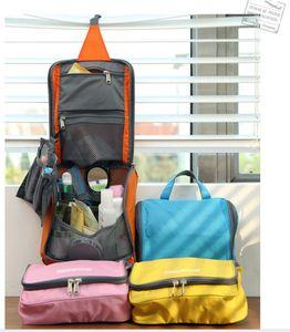 50pcs 2017 New Wash Bag Woman Toiletry Makeup Kit Storage Waterproof Cosmetic Bag Multifunctional Travel Bag