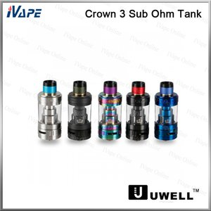 100% originale Uwell Crown 3 Sub ohm Tank Top Filling Atomizer Con Twist Off Cap Quartz Glass Tube 5ml Triple Airflow Slot