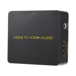 Freeshipping 4K Digital HDMI-Eingang zu HDMI 3.5 mm Stereo-Audio-Ausgang Extractor Decoder 1080 P schwarz für Blu-ray HD DVD XBOX