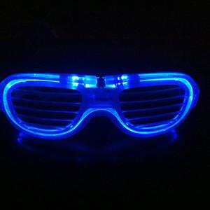 Fête D'anniversaire Fête Fournitures Led Clignotant Obturateur Lunettes Coloré Light Up Glowing Glasses Cool De Mariage De Noël Décoration