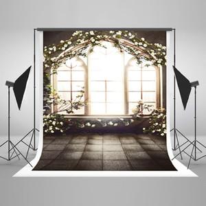 Kate interior janela fotografia fundos flores brancas primavera pano de fundo para casamento foto fotográfica