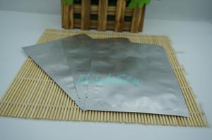 200pcs / lot poche de ping-pong de café, 12x18cm chaleur ouverte scellable argent blanc Pure sac plat en aluminium-mylar placage de soja poche plate