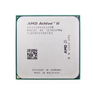 Livraison gratuite CPU AMD Athlon II X2 220 CPU 2.8 GHz Socket AM2 + / AM3 938PIN dual-core 65w processeur scroté des morceaux