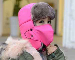 Invierno cálido trampero sombrero oreja solapas bombarderas falsas gorras de piel unisex prueba trampa tapas tapa nieve gorra ruso moq 20 pcs
